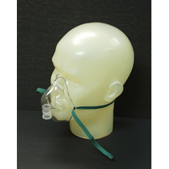 MON81103950 - Salter LabsAerosol Mask Salter Labs Under The Chin, Elongated One Size Fits Most Adjustable Elastic Head Strap