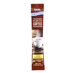 MON81272601 - Hormel Health Labs - Thick & Easy® Thickened Decaffeinated Coffee Powder, Honey Consistency, 7 Gram Individual Packet