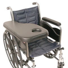 MON81504200 - Patterson MedicalFlip-Away Padded Trimline Half Tray w/Molded Cup Holder