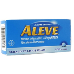 MON81642700 - BayerAleve® 220 mg Strength Pain Relief Caplets, 50 per Bottle