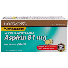 MON81802700 - Geiss, Destin & DunnPain Relief GoodSense 81 mg Strength Coated Tablet 120 per Bottle