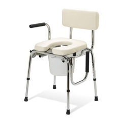 MON201888EA - Medline - Commode Chair Guardian® Drop-Arm Chrome-Plated Steel Removable Back 20 to 25 Inch, 1EA/CS