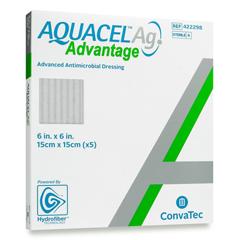 MON82792101 - Convatec - Silver Dressing Aquacel Ag Advantage 6 X 6 Inch Square Sterile, 1/ EA