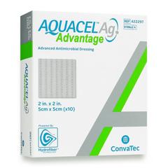 MON82802101 - Convatec - Silver Dressing Aquacel Ag Advantage 2 X 2 Inch Square Sterile, 1/ EA