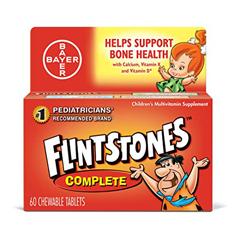 MON82842700 - BayerMultivitamin Supplement Flintstones Complete 3000 IU / 60 mg Strength Chewable Tablet 60 per Bottle
