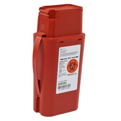 MON83032820 - MedtronicSharpSafety™ Sharps Container, Transportable, Red, 1 Quart