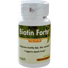 MON83152700 - McKessonBiotin Supplement Biotin Forte 200 mg / 10 mg Strength Tablet 3 mg, 60 per Bottle