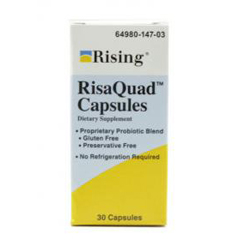 MON83672700 - Rising PharmaceuticalsProbiotic Dietary Supplement RisaQuad™ Capsule, 30 per Bottle