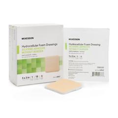 MON83852120 - McKesson - Silicone Foam Dressing (4862), 10/BX, 20BX/CS