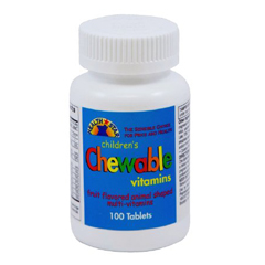 MON83862712 - Geri-CareChildrens Multivitamin Health Star 2500 IU / 400 IU / 60 mg Strength Chewable Tablet 100 per Bottle (561-01-HST)