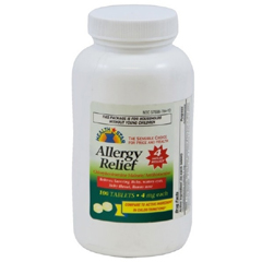 MON83912710 - McKessonAntihistamine Tablets 4 mg, 100 per Bottle