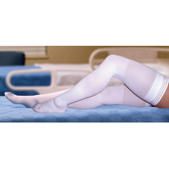 MON84450300 - McKessonAnti-embolism Stockings Medi-Pak® Thigh-high X-Large, Long White Inspection Toe