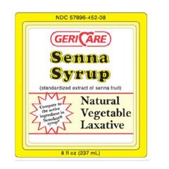 MON84482700 - Geri-CareLaxative Senna Syrup Liquid 8 oz. 8.8 mg Strength Sennosides (452-08)