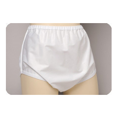 MON85008600 - SalkCover-Up Pants Sani-Pant™ Pull On Unisex Nylon, Plastic-Coated Large