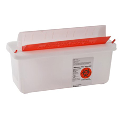 MON85022820 - MedtronicSharpSafety™ In Room Sharps Container, Mailbox, Clear, 2 Quart