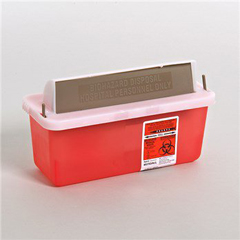 MON85032800 - MedtronicSharpSafety™ In Room Sharps Container, Mailbox, Transparent Red, 2 Quart