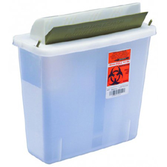 MON85122800 - Cardinal Health - SharpSafety™ In Room Sharps Container, Mailbox, Clear, 5 Quart