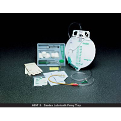 MON85161910 - Bard MedicalIndwelling Catheter Tray Bardex Lubricath Center Entry Foley 16 Fr. 5 cc Balloon Latex