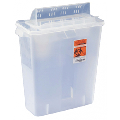 MON85322800 - MedtronicSharpSafety™ In Room Sharps Container, Always Open Lid, Clear, 2 Gallon