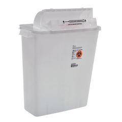 MON85362810 - MedtronicSharpSafety™ Safety In Room Sharps Container Counterbalance Lid, Clear 3 Gallon