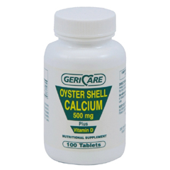 MON85472712 - Geri-CareCalcium with Vitamin D Supplement GeriCare 200 IU / 500 mg Strength Tablet 100 per Bottle