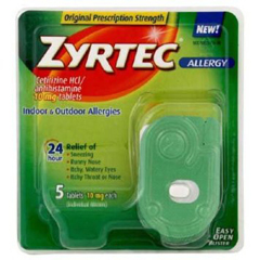 MON85742700 - Johnson & JohnsonAllergy Relief Zyrtec® 10 mg 5 per Bottle
