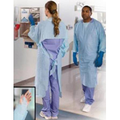 MON85761200 - Tidi ProductsImpervious Gown P2® One Size Fits Most Polyethylene Blue Adult, 15EA/BX