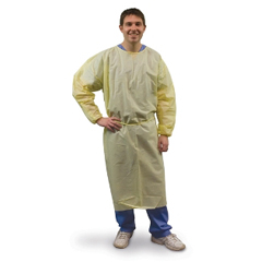 MON85791100 - Tidi ProductsProtective Gown P2® Safetyplus® X-Large SMS Fabric Yellow Adult, 10EA/BG 10BG/CS