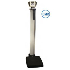 MON85863700 - Health O MeterEye Level Scale ELEVATE EMRscale Digital 600 lbs. 120V Adapter (Included), 6 C-Cell Batteries (Not Included)