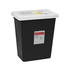 MON86122810 - Cardinal Health - SharpSafety™ RCRA Hazardous Waste Container Slide Lid, Black 12 Gallon