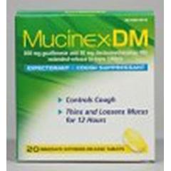 MON86542700 - Reckitt BenckiserCough Relief Mucinex® DM Tablet 600 mg/ 30 mg, 20EA/BX