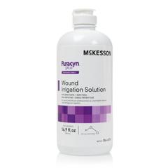 MON86612100 - McKesson - Wound Irrigation Solution Puracyn Plus Professional 16.9 oz. Flip Top Bottle NonSterile, 6 EA/CS