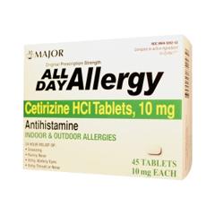 MON86722700 - Major PharmaceuticalsAllergy Relief All Day 10 mg Strength Tablet 45 per Bottle (255549)