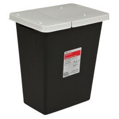 MON86802810 - MedtronicSharpSafety™ RCRA Hazardous Waste Container Slide Lid, Black 8 Gallon