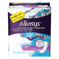 MON87033100 - Procter & GambleIncontinence Liner Always Discreet Regular Moderate Absorbency DualLock Female