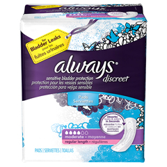 MON87033110 - Procter & GambleIncontinence Liner Always Discreet Regular Moderate Absorbency DualLock Female