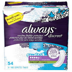 MON87073100 - Procter & GambleIncontinence Liner Always Discreet Long Heavy Absorbency DualLock Female