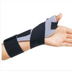 MON87113000 - DJOThumb Splint ThumbSPICA Thumb Spica Foam Left Hand Black / Blue One Size Fits Most