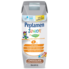 MON87162600 - Nestle Healthcare NutritionTube Feeding / Oral Supplement Peptamen Junior® With Prebio™ Chocolate 250 mL, 24EA/CS