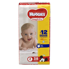 MON87413101 - Kimberly Clark ProfessionalHuggies Snug & Dry® Diapers (40667), Size 2, 38/PK