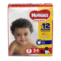 MON87423101 - Kimberly Clark ProfessionalHuggies Snug & Dry® Diapers (40668), Size 3, 32/PK