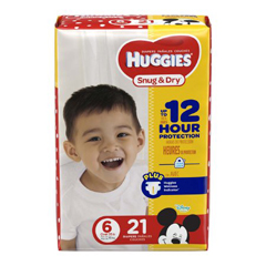 MON87453100 - Kimberly Clark ProfessionalHuggies Snug & Dry® Diapers (40674), Size 6, (84/CS