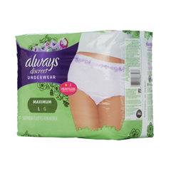 MON87573100 - Procter & GambleAbsorbent Underwear Always Discreet Pull On Large Disposable Heavy Absorbency