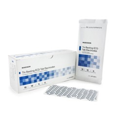 MON952969BX - McKesson - Non-Radiolucent Tin Resting ECG Tab Electrodes