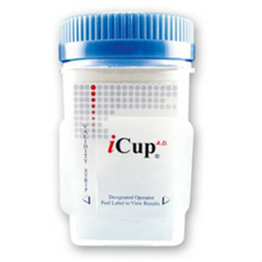 MON87742400 - Alere - Drugs of Abuse Test iCup® A.D. 6-Drug Panel with Adulterants AMP, BZO, COC, mAMP/MET, OPI, THC, (OX, pH, SG) Urine Sample CLIA Moderate Complexity 25 Tests