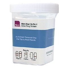 MON87902400 - Alere - Drugs of Abuse Test iCup® Dx Pro 2 10-Drug Panel with Adulterants AMP, BAR, BUP, BZO, COC, mAMP/MET, OPI300, OXY, MTD, THC (CR, OX, SG) Urine Sample CLIA Waived 25 Tests