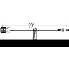 MON679043EA - ICU Medical - Extension Set 20 Tubing 0.69 mL Priming Volume DEHP-Free