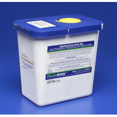 MON88202800 - MedtronicSharpSafety™ Pharmaceutical Waste Container, Gasketed Hinged Lid, 2 Gallon