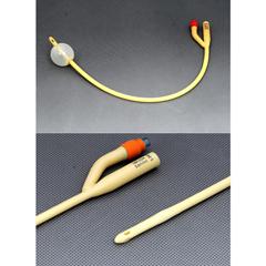 MON88211900 - Amsino InternationalFoley Catheter AMSure 2-Way 5 cc Balloon 28 Fr. Silicone Coated Latex