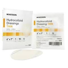 MON18852100 - McKesson - 6 x 7 Sterile Thin Sacral Hydrocolloid Dressing, 10EA/BX